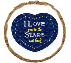 Love you to Moon and Back Dog Treats - 12 Pack