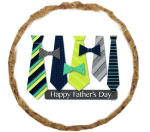 Fathers Day Ties Dog Treats - 6 pack