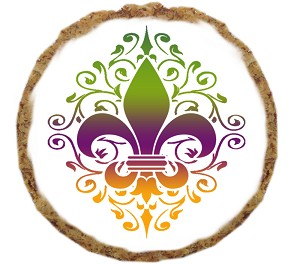 Mardi Gras Fleur De Lis Dog Treat- 12 Pack