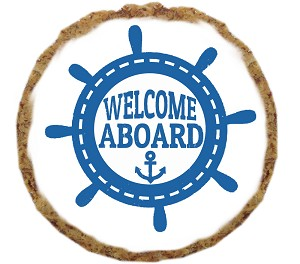 Welcome Aboard Dog Treat- 6 Pack