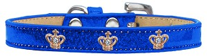 Gold Crown Widget Dog Collar Blue Ice Cream Size 14