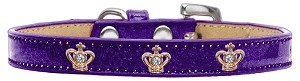 Gold Crown Widget Dog Collar Purple Ice Cream Size 12