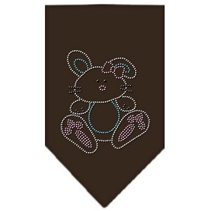Bunny Rhinestone Bandana Brown Large