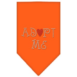 Adopt Me Rhinestone Bandana Orange Large