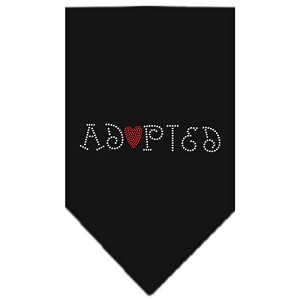 Adopted Rhinestone Bandana Black Small
