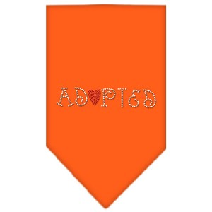 Adopted Rhinestone Bandana Orange Large