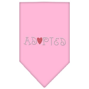 Adopted Rhinestone Bandana Light Pink Large