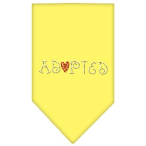 Adopted Rhinestone Bandana Yellow Small