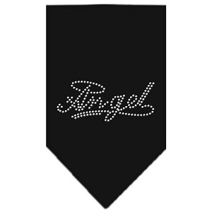 Angel Rhinestone Bandana Black Large