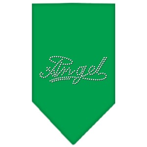 Angel Rhinestone Bandana Emerald Green Large