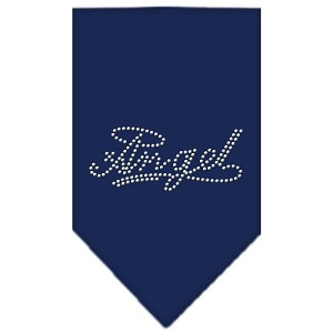 Angel Rhinestone Bandana Navy Blue Small