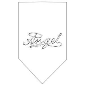 Angel Rhinestone Bandana White Large