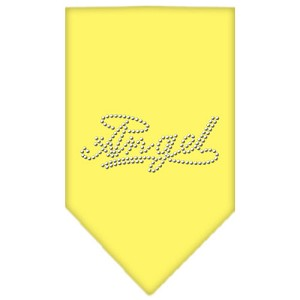 Angel Rhinestone Bandana Yellow Large