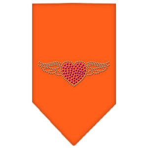 Aviator Rhinestone Bandana Orange Small