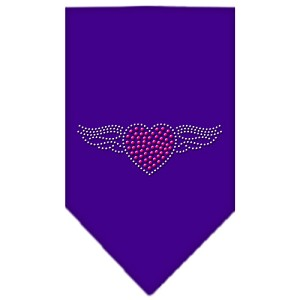 Aviator Rhinestone Bandana Purple Large