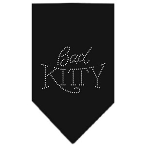 Bad Kitty Rhinestone Bandana Black Large