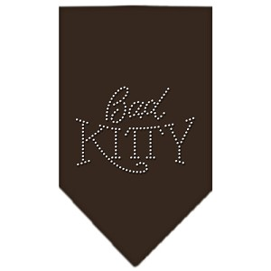 Bad Kitty Rhinestone Bandana Cocoa Large