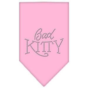Bad Kitty Rhinestone Bandana Light Pink Large