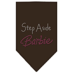 Step Aside Barbie Rhinestone Bandana Cocoa Large