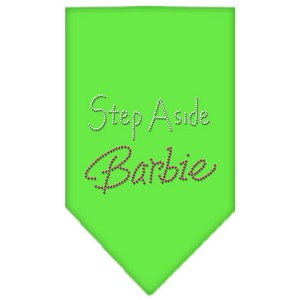 Step Aside Barbie Rhinestone Bandana Lime Green Small