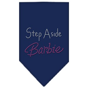 Step Aside Barbie Rhinestone Bandana Navy Blue large