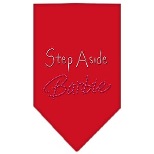 Step Aside Barbie Rhinestone Bandana Red Large