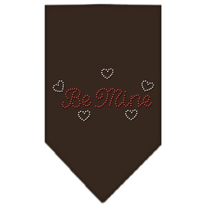 Be Mine Rhinestone Bandana Cocoa Small
