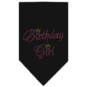 Birthday Girl Rhinestone Bandana Black Large