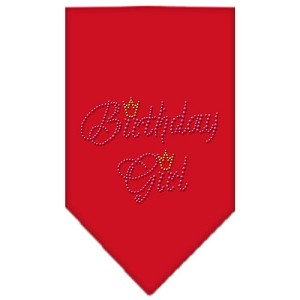 Birthday Girl Rhinestone Bandana Red Large