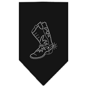 Boot Rhinestone Bandana Black Large