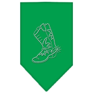 Boot Rhinestone Bandana Emerald Green Small