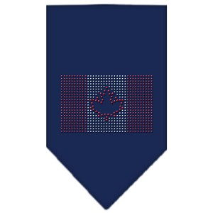 Canadian Flag Rhinestone Bandana Navy Blue Small