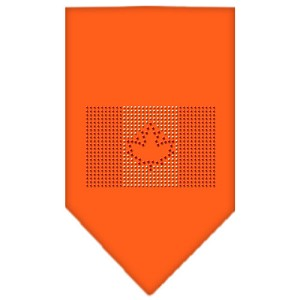 Canadian Flag Rhinestone Bandana Orange Large