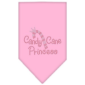 Candy Cane Princess Rhinestone Bandana Light Pink Large