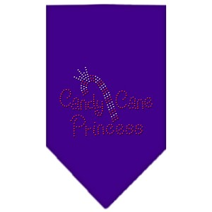 Candy Cane Princess Rhinestone Bandana Purple Small