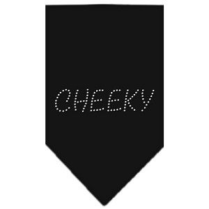 Cheeky Rhinestone Bandana Black Small