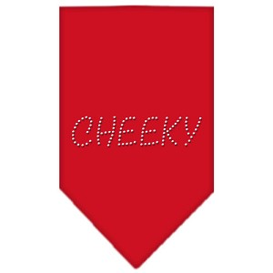 Cheeky Rhinestone Bandana Red Large