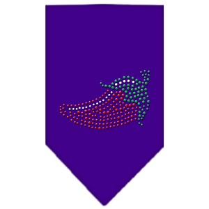 Chili Pepper Rhinestone Bandana Purple Large