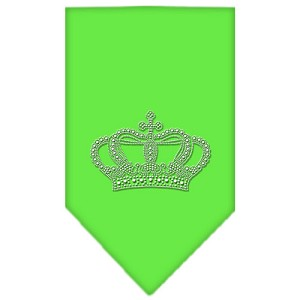 Crown Rhinestone Bandana Lime Green Small