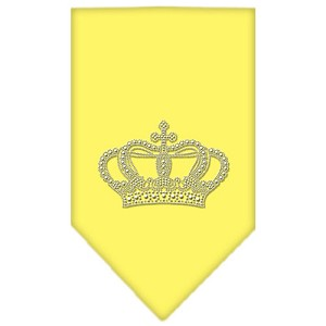 Crown Rhinestone Bandana Yellow Small