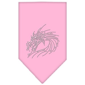Dragon Rhinestone Bandana Light Pink Small
