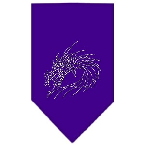 Dragon Rhinestone Bandana Purple Small