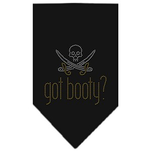 Got Booty Rhinestone Bandana Black Small