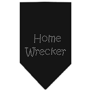 Home Wrecker Rhinestone Bandana Black Large