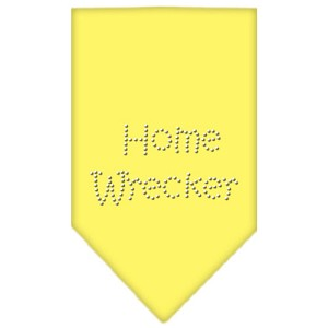 Home Wrecker Rhinestone Bandana Yellow Large