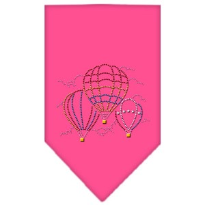 Hot Air Balloons Rhinestone Bandana Bright Pink Large