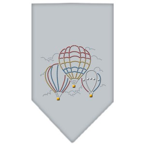 Hot Air Balloons Rhinestone Bandana Grey Large