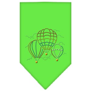 Hot Air Balloons Rhinestone Bandana Lime Green Small