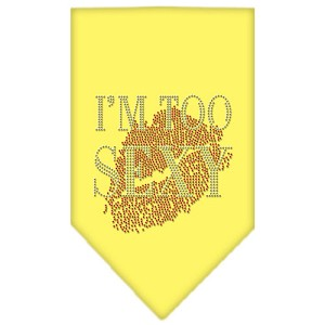 I'm Too Sexy Rhinestone Bandana Yellow Small