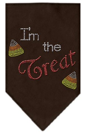 I'm the Treat Rhinestone Bandana Brown Large